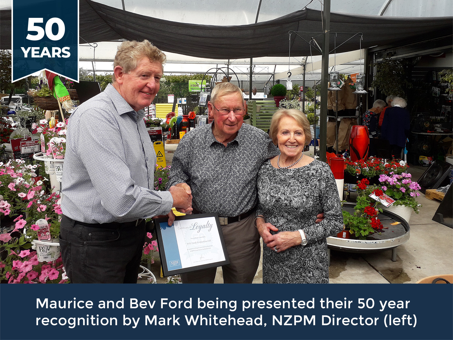 Maurice and Bev Ford - 50 year recognition